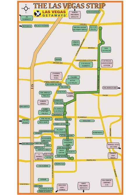 vegas strip map book vegas hotels buy concert show