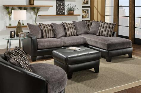 black leather sectional fascinating furniture for living room decoration using