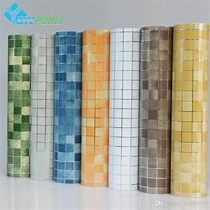 Kitchen Wall Sticker Pvc Mosaic Tile Wallpaper Bathroom ...