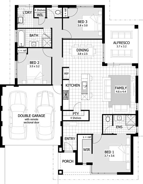 home designs plans 3 bedroom modern house plans modern house