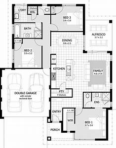 3 bedroom modern house plans