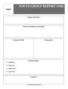 book publishing templates focus group report report template