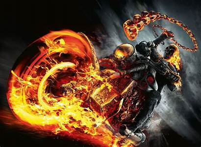 Ghost Skull Rider Fire Wallpapers Motorcycle Danger