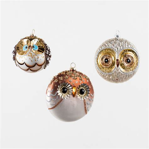 glass owl ball tree ornaments modern design by
