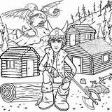 Coloring Cabin Log Printable Popular sketch template