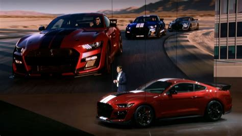 ford debuts 2020 shelby gt500 ford debuts 2020 mustang shelby gt500 most powerful