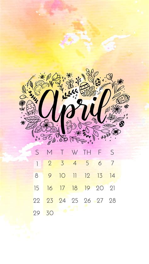 april  iphone wallpaper calendar calendar wallpaper