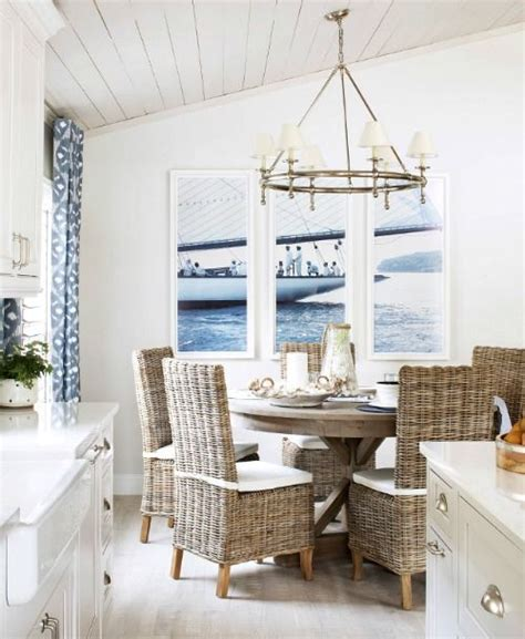 nautical living  navy blue white natural textures