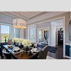 Model Home Interiors  Trim In Ceiling, Shelves In Living