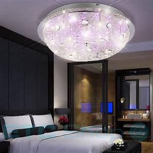 Lampe Mit Kristallen : wohn ess schlaf zimmer decken leuchte fernbedienung kristalle lampe big light ebay ~ Orissabook.com Haus und Dekorationen