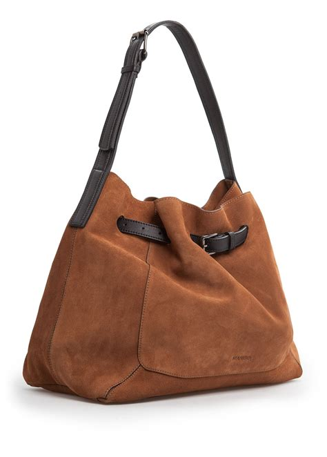 mango leather bucket bag  brown lyst