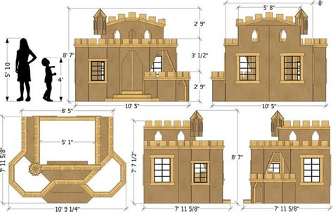 If you are looking for an opulent home with all the space you could ever need, these home plans will fulfill your every wish. Indoor Princess Castle Plan | Play houses, Build a playhouse, Simple playhouse