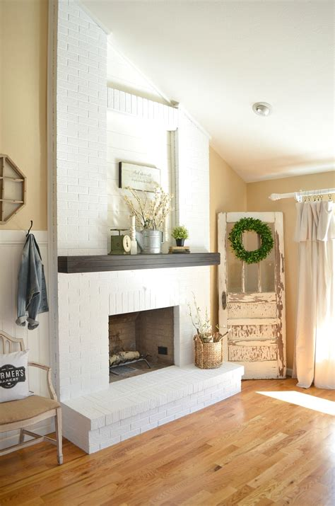 how to paint brick fireplace how to paint a brick fireplace vintage nest