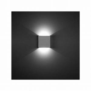Applique Murale Moderne : applique carr e ges indirecte leds c4 ~ Teatrodelosmanantiales.com Idées de Décoration