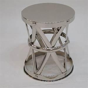 Nickel x frame garden stool side table for sale at 1stdibs for Garden stool side table