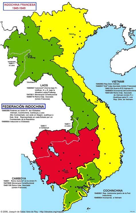 Hisatlas  Mapa De Indochina 1949