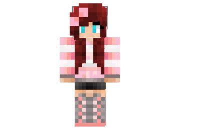 cute pink girl skin minecraftnet