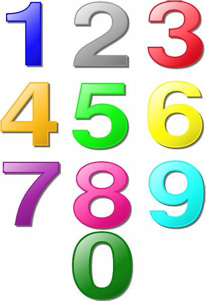 Clker Clip Numbers Colorful Svg Clipart Vector