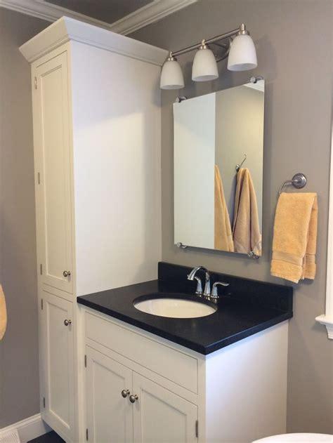 vanity and linen closet master bath ideas