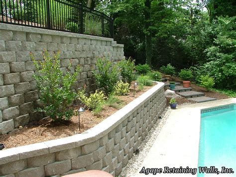 terraced retaining wall agape retaining walls inc terrace photo album 4