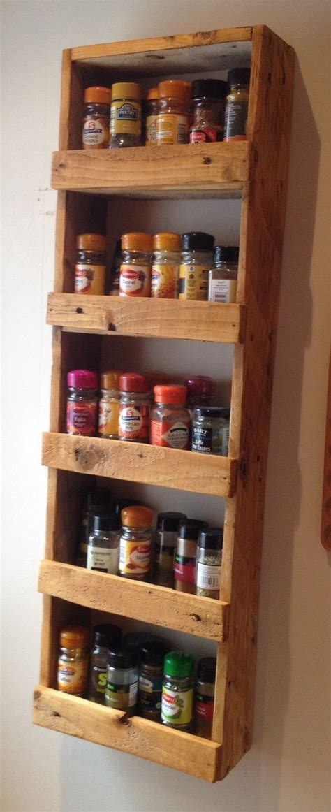 Wood Spice Rack For Wall by Easy Spice Rack Cross Slats Could Be Positioned To
