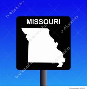 Illustration Of Missouri Highway Sign