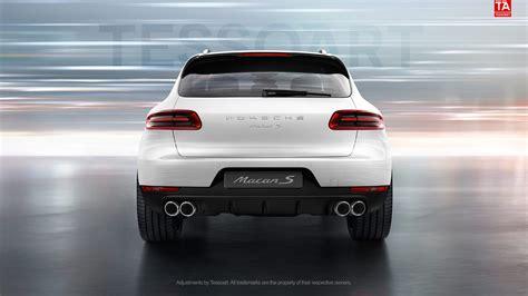 render porsche macan   white  sportdesign wheels