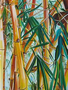 Yellow Bamboo Painting by Marionette Taboniar