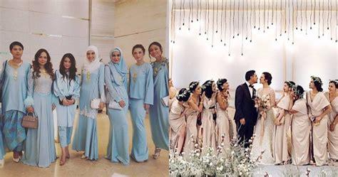 bukan kebaya gaun bridesmaid  nikahan  seleb