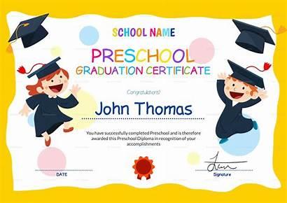 Certificate Preschool Template Graduation Templates Sample Pdf