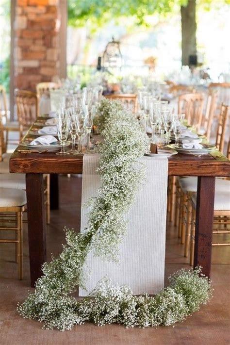 23 and baby s breath wedding decor ideas