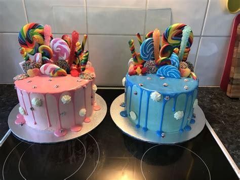 boy girl lolly drizzle cake candy drip cake  cake