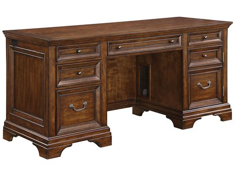 wynwood woodlands executive desk flexsteel wynwood collection woodlands kneehole credenza