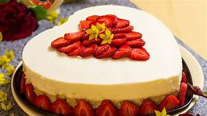 Kuchen ohne Backen ''Erdbeer Kokos VERPOORTEN Torte