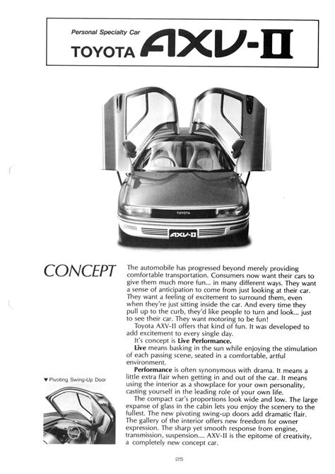 Toyota AXV-II (1987) - Old Concept Cars