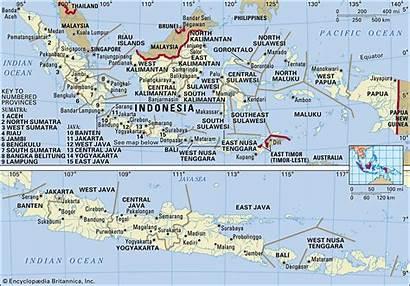 Indonesia Map Islands Countries Java Bali Near