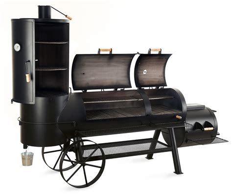 barbeque smoker holzkohle grill joe 180 s 24 quot extended catering smoker bei edingershops de