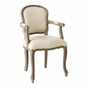 Fauteuil Suspendu Maison Du Monde : fauteuil cabriolet en lin versailles maisons du monde ~ Premium-room.com Idées de Décoration