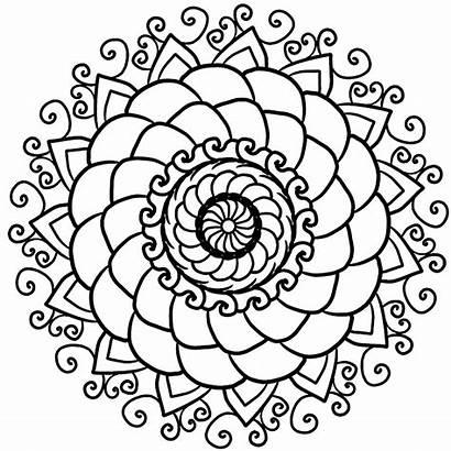 Mandala Simple Easy Mandalas Patterns Cool Coloring