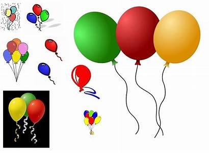 Balloons Birthday Clip Balloon Clipart Border Cliparts