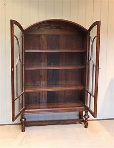 Oak, Arch, Top, Glazed, Bookcase