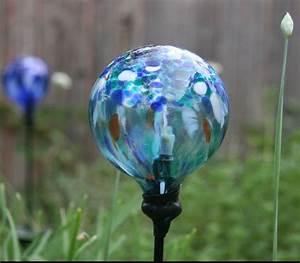 Replace a broken glass globe on solar powered garden light