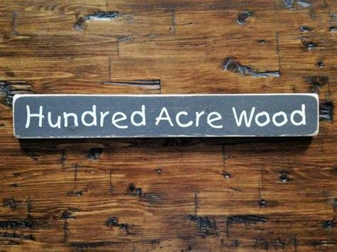 Hundred Acre Wood Classic Winnie The Pooh Distressed Sign