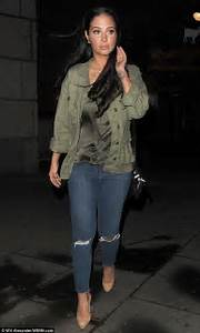 Tulisa military outfit for a swanky night out in London ...
