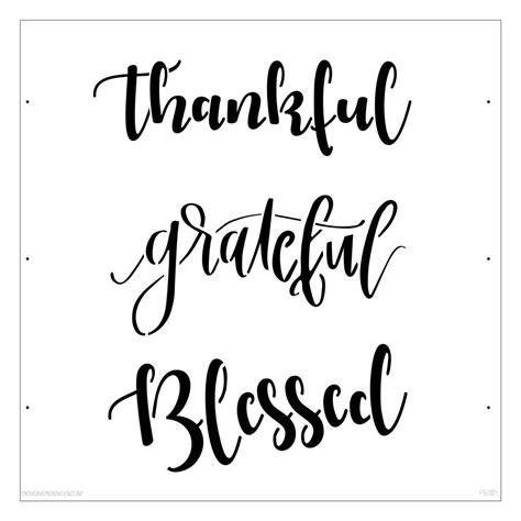 Kitchen Stencil Ideas - designer stencils thankful grateful blessed lettering stencil fs021 the home depot