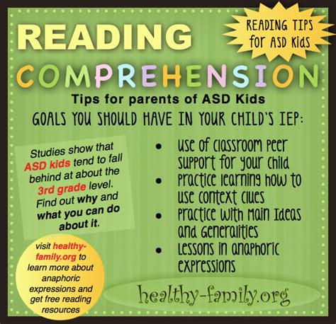 Leveraging Symptoms Of Autism To Improve Reading Comprehension