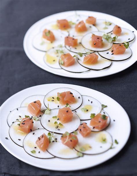 decoration saumon fume pour noel dos de saumon fum 233 radis noir vinaigrette s 233 same et agrumes pour 6 personnes recettes