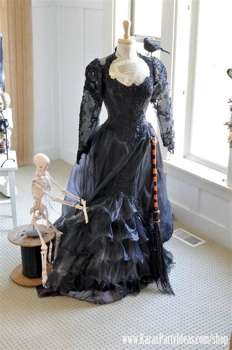 witch s costume purchase old wedding dress at thrift