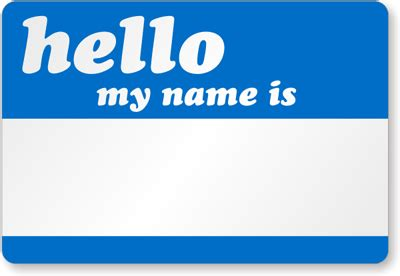 hello my name is template visitor badges and visitor labels