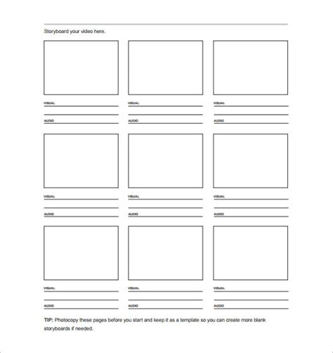 free storyboard template 7 storyboard templates doc excel pdf ppt free premium templates